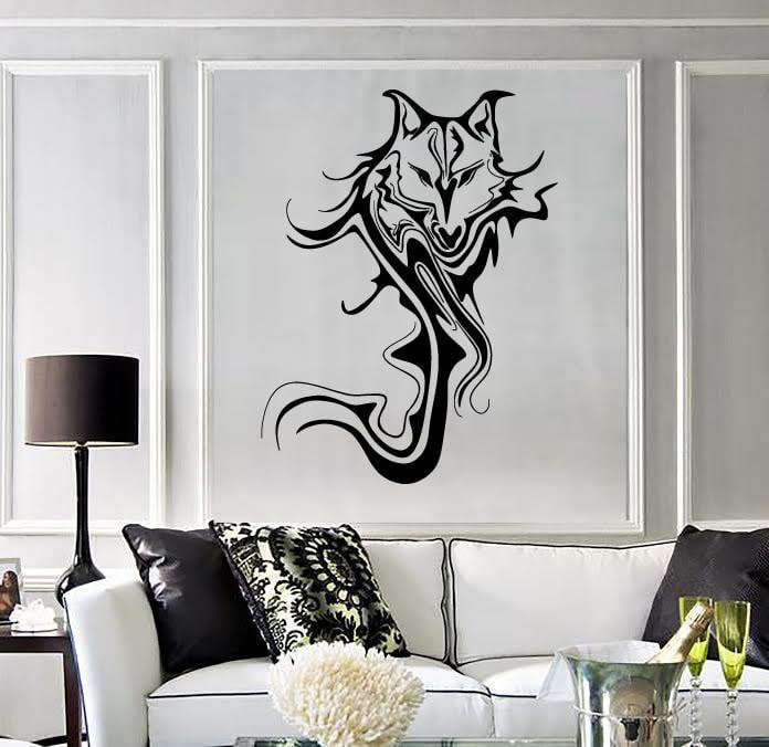 Wall Stickers Vinyl Decal Wolf Animal Abstract Cool Room Decor Unique Gift (ig1805)
