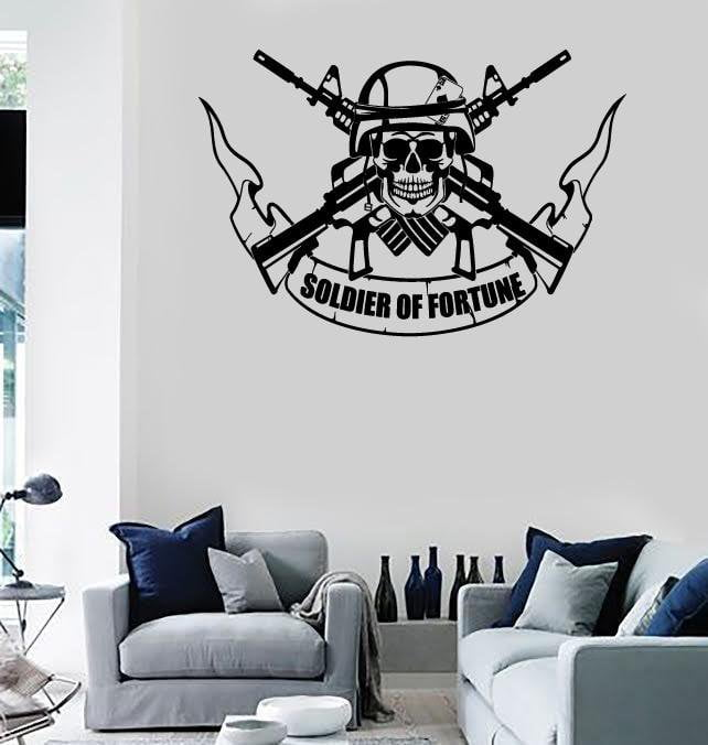 Wall Stickers Vinyl Decal Soldier of Fortune War Military Unique Gift (ig1810)