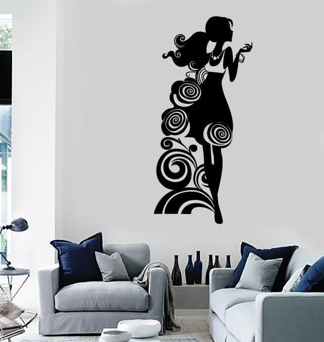 Wall Stickers Vinyl Decal Sexy Silhouette Girl Beautiful Room Decor Unique Gift (ig1812)