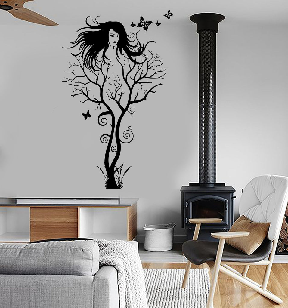 Wall Sticker Vinyl Decal Abstract Hot Sexy Girl Tree Modern Cool Decor Unique Gift (ig1867)