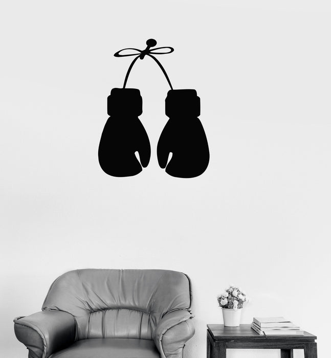 Vinyl Decal Boxing Gloves Boxing Sports Fighting Man Decor Wall Stickers Unique Gift (ig186)