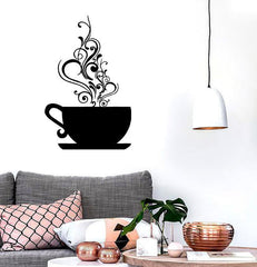 Vinyl Decal Coffee Cup Cafe Tea Kitchen Decor Wall Stickers Mural Unique Gift (ig188)