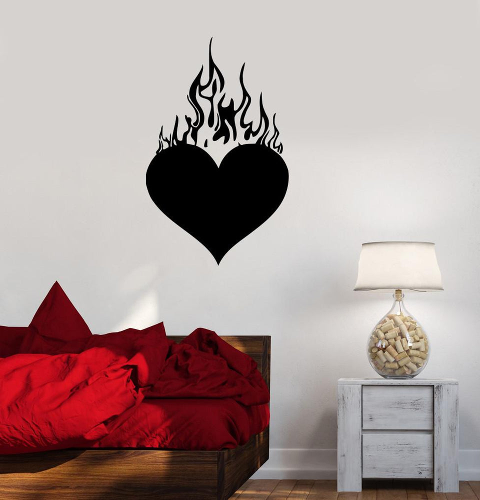 Vinyl Decal Heart Love Romantic Bedroom Decor Wall Stickers Mural Unique Gift (ig195)