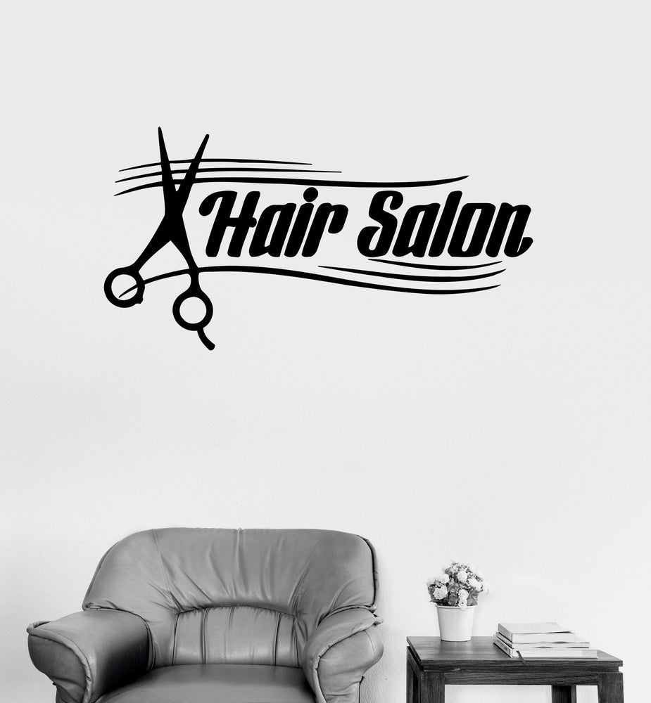 Vinyl Decal Hair Salon Hairdresser Barbershop Beauty Stylist Wall Stickers Unique Gift (ig205)