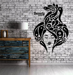 Beauty Salon Sexy Woman Hair Spa MakeupWall Sticker Vinyl Decal Unique Gift ig2068