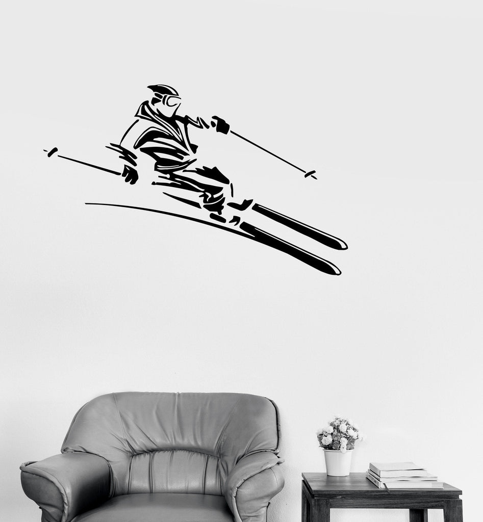 Vinyl Decal Snowboard Extreme Sport Slalom Winter Sports Decor Wall Stickers Unique Gift (ig207)