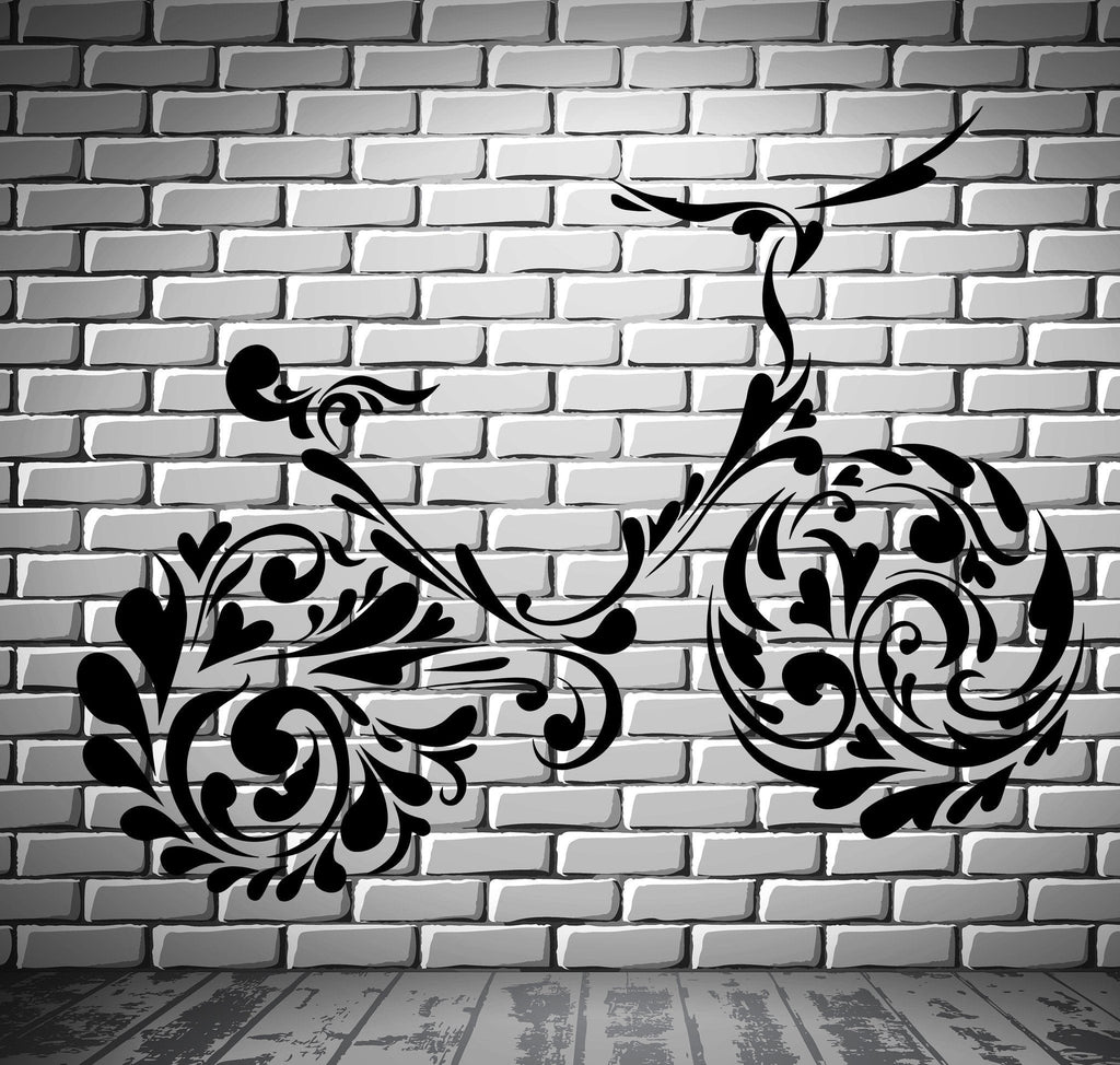 Bike Bicycle Bicycling Patterns Teenager Room Wall Sticker Vinyl Decal Unique Gift (ig2089)