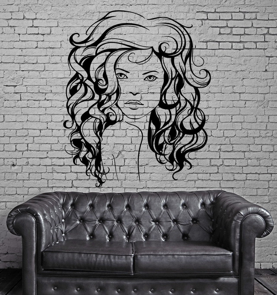 Beauty Salon Hair Hairstyle Stylist Sexy Woman Wall Sticker Vinyl Decal (ig2099)