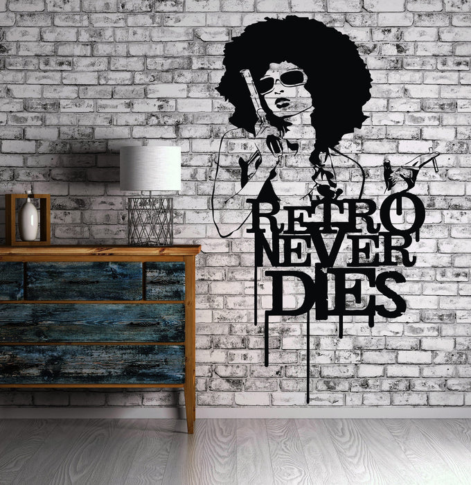 Hot Sexy Girl Vinyl Decal Mafia Gangster Retro Gun Wall Stickers Unique Gift (ig2320)