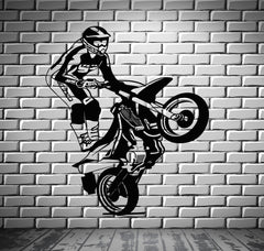 Motorcycle Vinyl Decal Race Extreme Sports Freestyle Wall Stickers Unique Gift (ig2322)