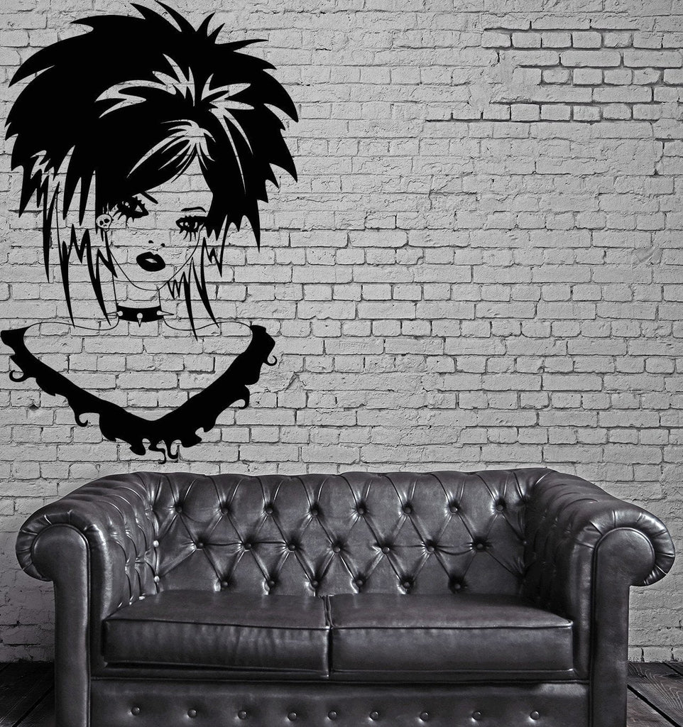 Teen Girl Vinyl Decal Gothic Sexy Beautiful Hairstyle Wall Stickers Un –  Wallstickers4you