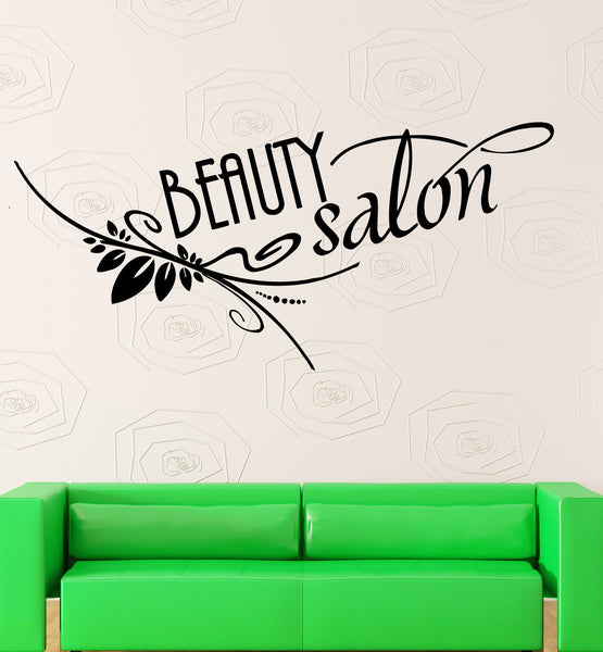 Vinyl decal beauty salon quote wall sticker spa hair for Salon quotes about beauty