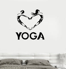 Vinyl Decal Yoga Love Meditation Buddhism Wall Stickers Unique Gift (ig236)