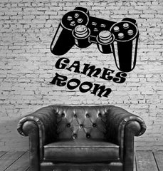 Wall Stickers Games Room for Kids Nursery Video Game Joystick Vinyl Decal Unique Gift ig2372