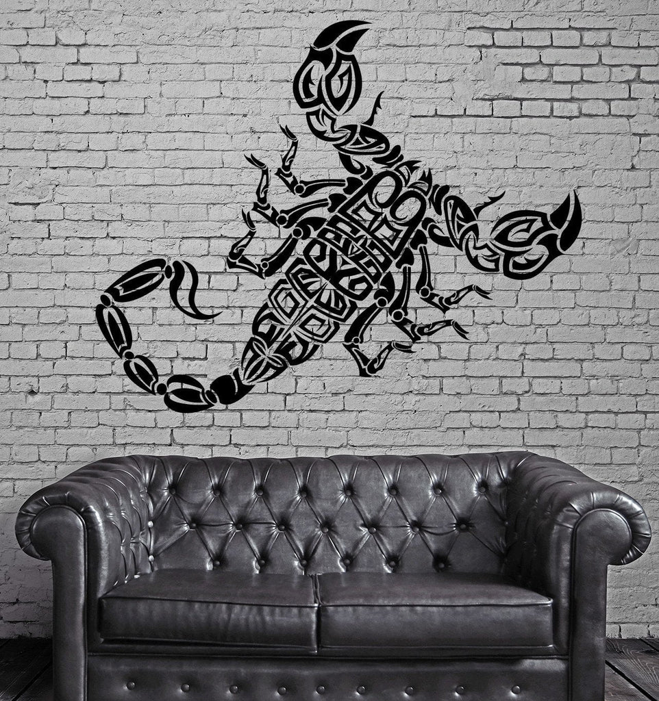 Scorpio Wall Stickers Tribal Cool Room Decor Vinyl Decal Unique Gift (ig2377)