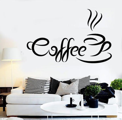 Vinyl Decal Coffee Quote Coffee Time Wall Sticker Kitchen Cafe Shop  Restaurant Decoration (ig2427) Part 84