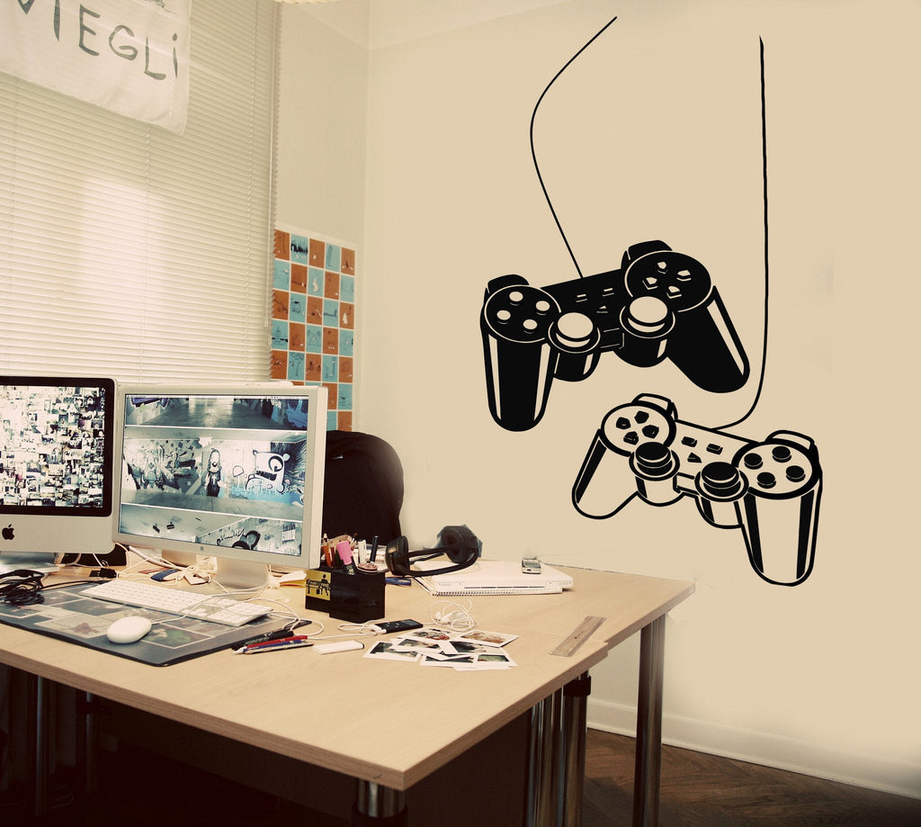 Joystick wall decal gamer video game play room kids vinyl stickers joystick wall decal gamer video game play room kids vinyl stickers art unique gift ig2532 amipublicfo Choice Image