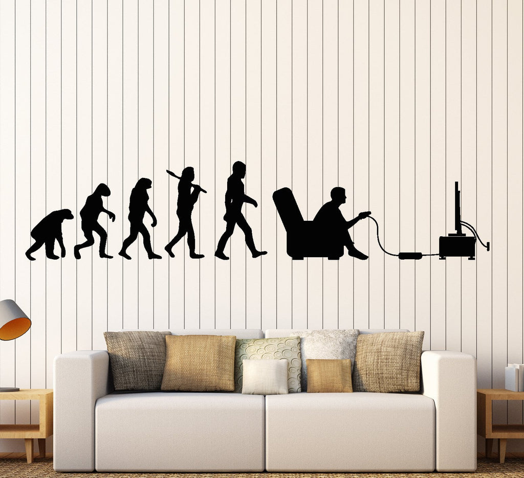 Gamer Wall Decal Evolution Video Game Kids Room Vinyl Sticker Art Mural  Unique Gift (ig2538