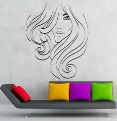 Vinyl Decal Beauty Salon Hair Stylist Spa Woman Barbershop Wall Stickers Unique Gift (ig2615)