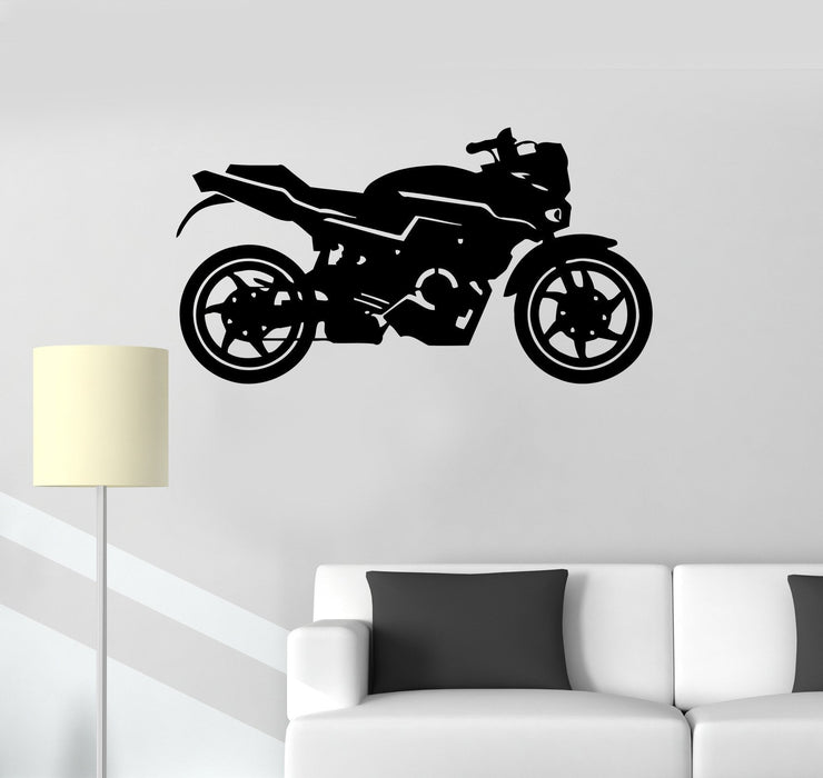 Vinyl Decal Motorcycle Racing Garage Decor Extreme Sports Wall Stickers Unique Gift (ig2618)