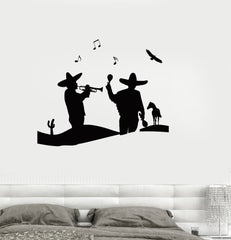 Wall Decal Mexico Music Musician Cool Room Art Vinyl Stickers Unique Gift (ig2625)
