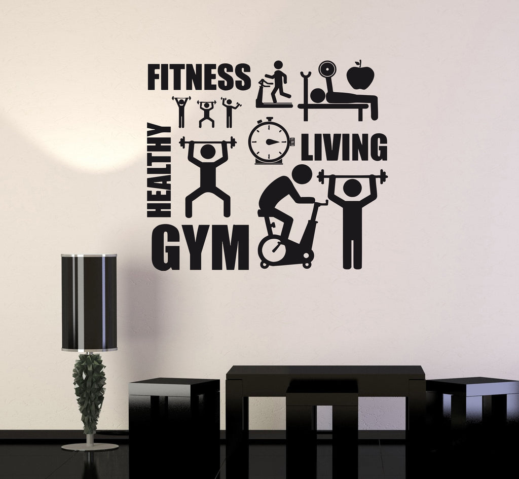 Vinyl Decal Fitness Healthy Lifestyle Sport Motivation Decor Wall Sticker Unique Gift (ig2630)