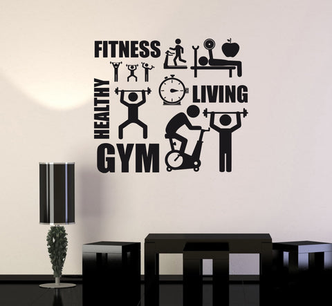 Vinyl Decal Fitness Healthy Lifestyle Sport Motivation Decor Wall Sticker (ig2630)