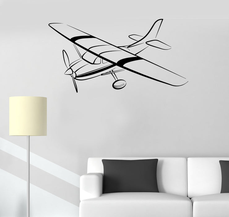 Vinyl Decal Aircraft Aviation Children's Room Kids Playroom Mural Wall Stickers Unique Gift (ig2639)