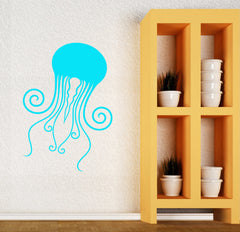 Vinyl Decal Jellyfish Nautical Marine Decor Ocean Sea Wall Stickers Unique Gift (ig2677)