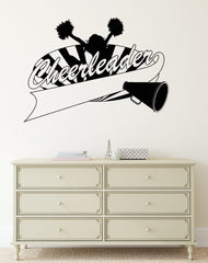 Vinyl Decal Cheerleaders Girl Sports Fan Club Wall Stickers Mural Unique Gift (ig2744)