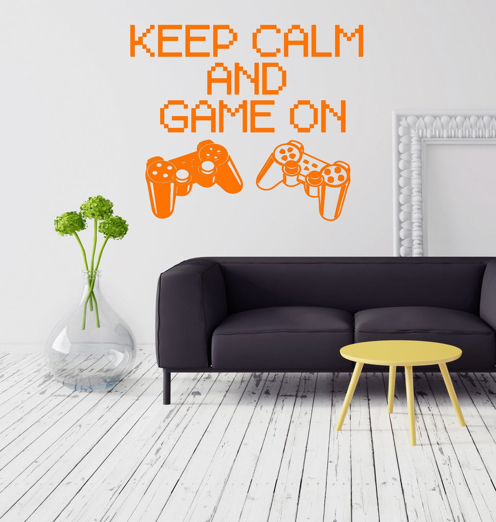 Vinyl Decal Quote Gaming Game Video Game Playroom Wall Stickers (ig2751) Part 44