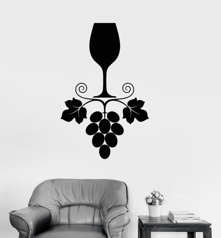 Vinyl Wall Decal Wine Grapes Glass Kitchen Restaurant Drink Bar Stickers Unique Gift (ig3296) & Kitchen Wall Vinyl Decal u2013 Page 10 u2013 Wallstickers4you