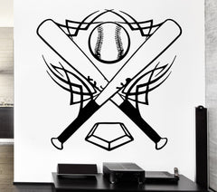 Vinyl Decal Baseball Wall Stickers Bat Sports Ball Great Decor for Boys Room (ig340)