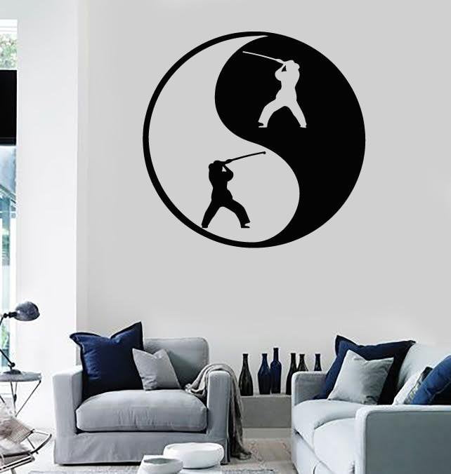 Wall Stickers Vinyl Decal Yin Yan Fight Eastern Philosophy Harmony (ig343)