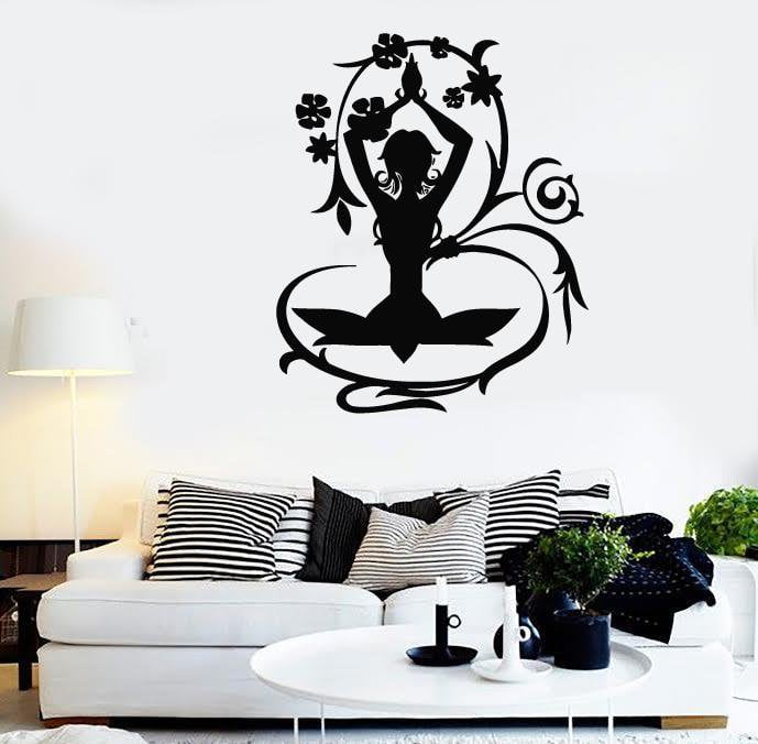 Wall Stickers Vinyl Decal Yoga Poses Meditation Zen Nirvana Health Unique Gift (ig344)