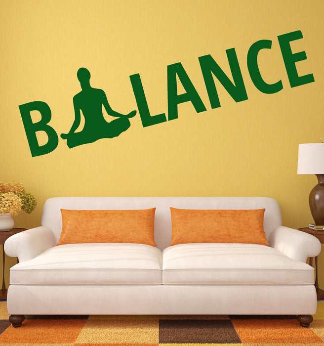 Wall Sticker Vinyl Decal Balance Buddha Meditation Religion Nirvana Unique Gift (ig346)