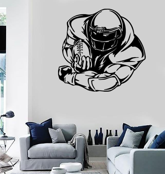 Wall Stickers Vinyl Decal Sport American Football Coolest Decor for Room Unique Gift (ig385)