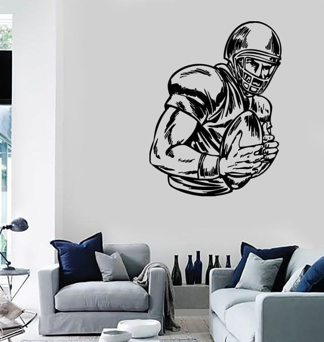 Wall Stickers Vinyl Decal Sport American Football Fan Boys Kids Ball Unique Gift (ig386)