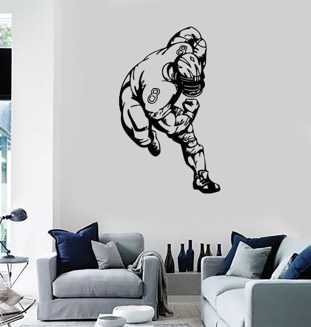 Wall Stickers Vinyl Decal Sport American Football Sportsman Nice Decor (ig387)
