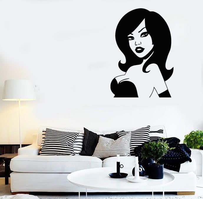 Wall Stickers Vinyl Decal Sexy Girl in Dress Cool Room Decor Unique Gift (ig459)