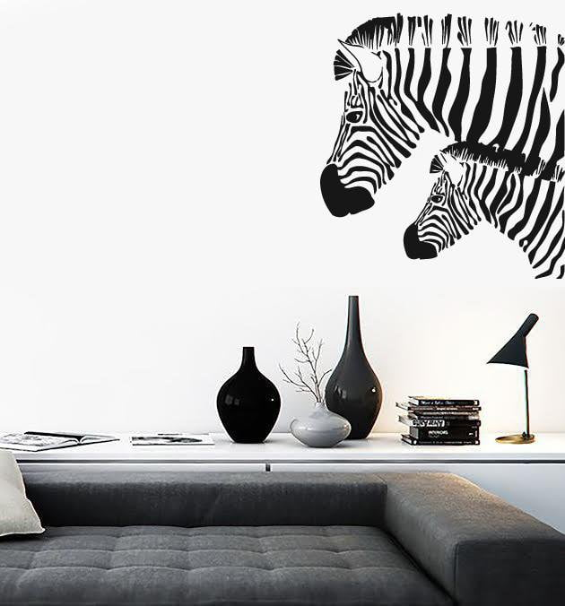 Wall Stickers Vinyl Decal Zebra Animal Coolest Design for Living Room Unique Gift (ig486)