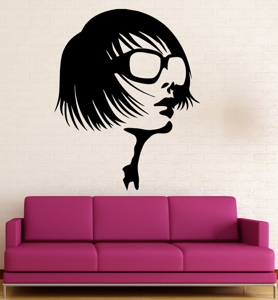 Vinyl Decal Beauty Salon Wall Sticker Sexy Girl in Sunglasses Fashion Style Spa Decor (ig565)