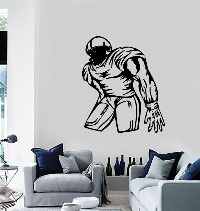 Wall Stickers Vinyl Decal Sports American Football Player for Fans Unique Gift (ig590)