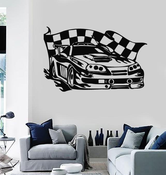Wall Stickers Vinyl Decal Sports Car Race Rally Coolest Garage Decor (ig596)