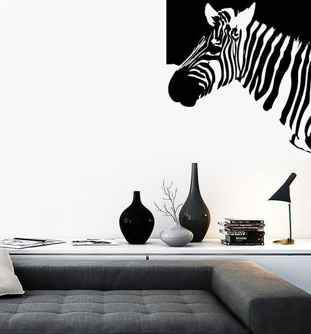 Wall Stickers Vinyl Decal Zebra Animal Decor Modern Style Unique Gift (ig627)