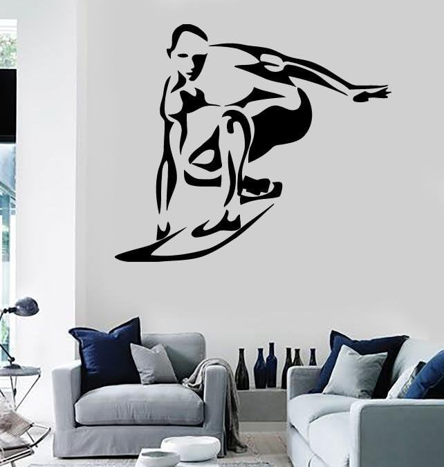 Wall Stickers Vinyl Decal Surfing Extreme Sports Decor Board Unique Gift (ig632)