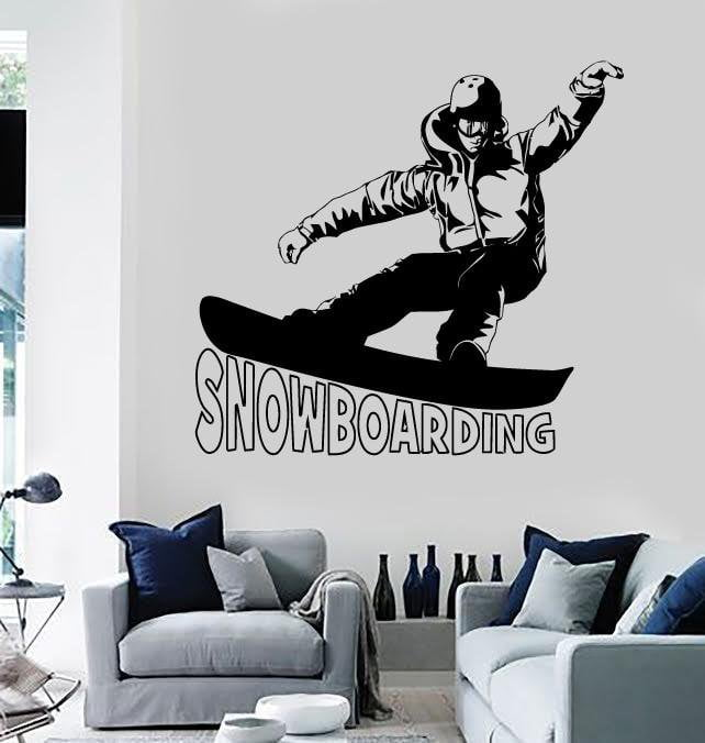 Wall Stickers Vinyl Decal Snowboarding Extreme Sports Teen Room Unique Gift (ig640)