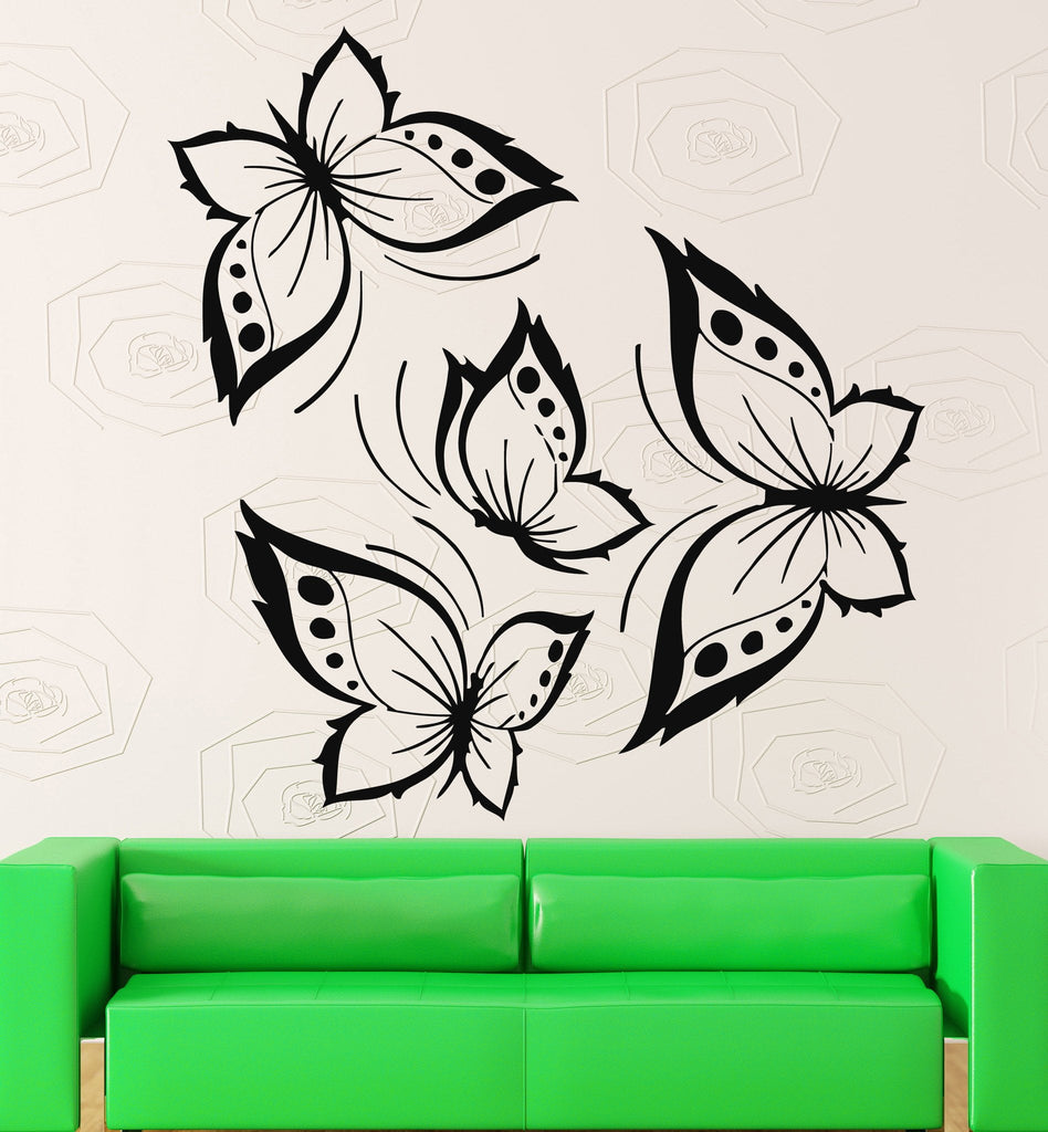 Vinyl Decal Butterflies Wall Sticker Beautiful Design for Living Room or Girl's Children Room (ig706)