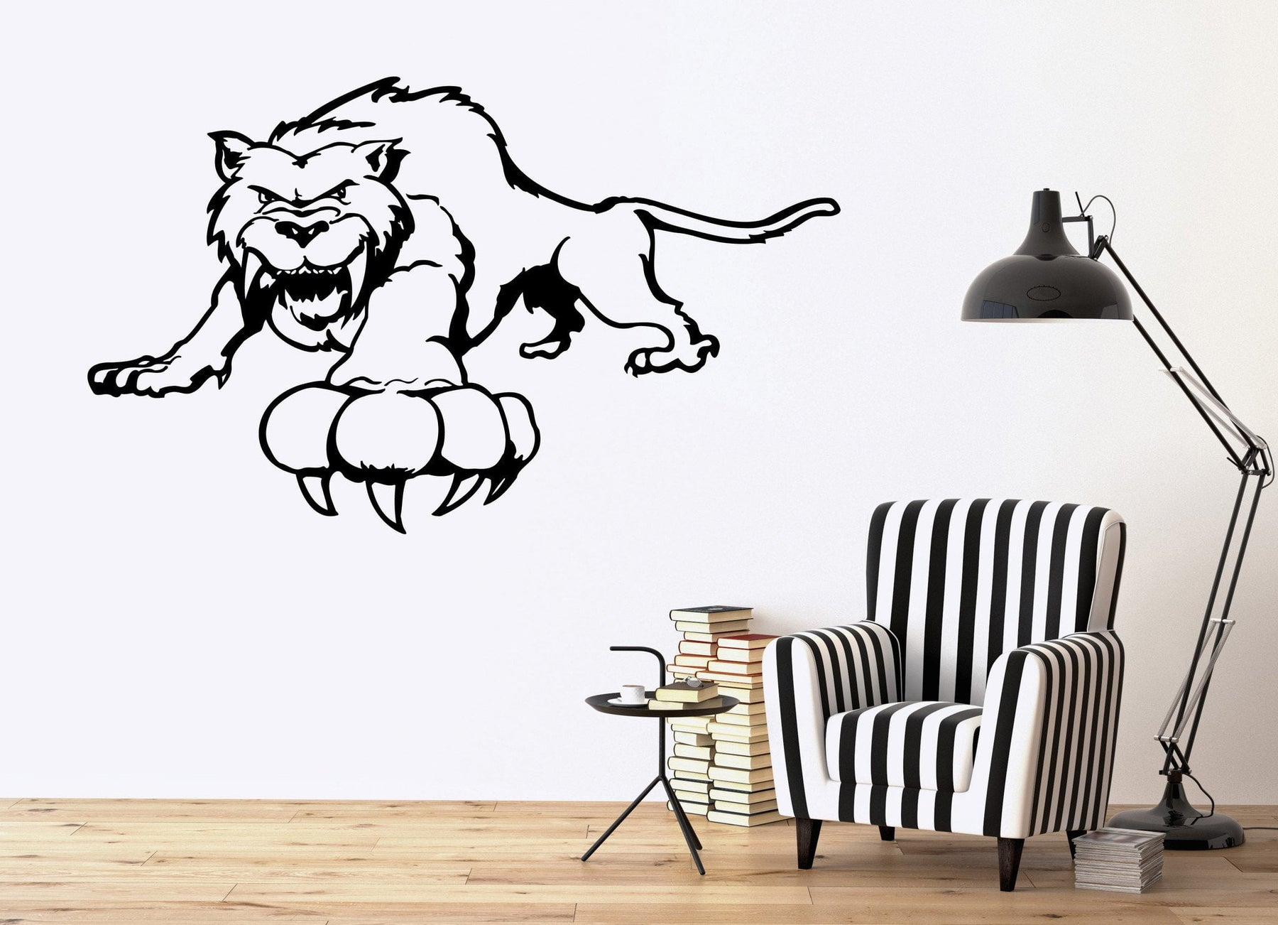 Tiger Wall Stickers Nursery Animal Tribal Predator For Kids Vinyl Decal Unique Gift (ig889)