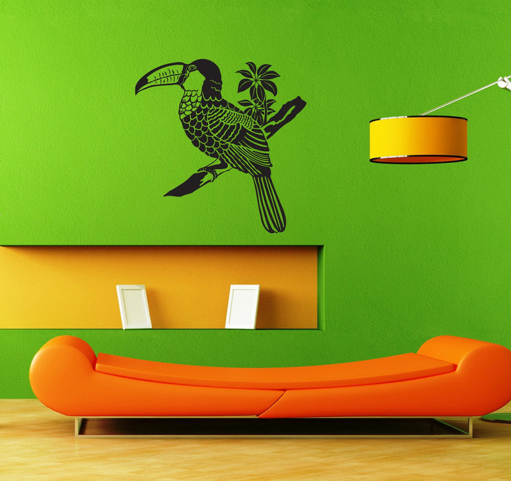 Vinyl Decal Parrot African Bird Wall Sticker Kids Room Decor Animals Unique Gift (ig900)